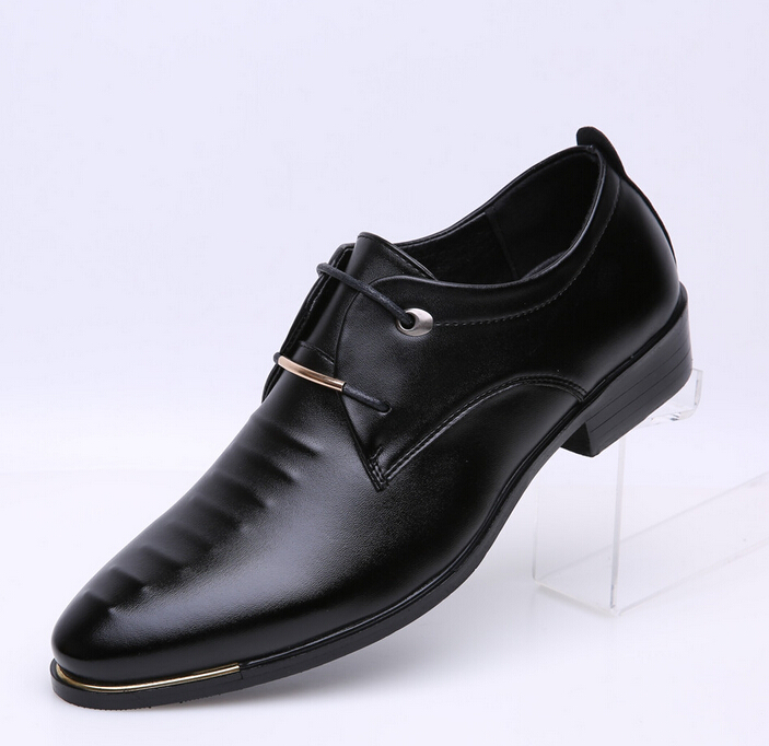 new fashion patent leather dress shoes business