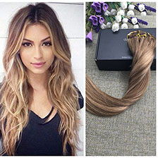 Full Shine 1B Green Clip in Extensions Brazilian Remy Human Hair High Quality Clip Extensions Ombre Color Fast Shipping Delivery