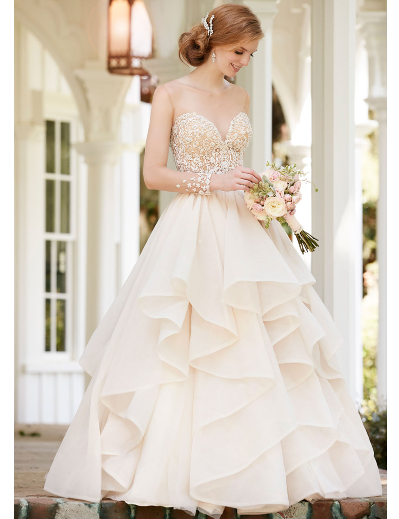 Elegant 2 Piece Wedding Dresses : Popular ball gown skirt separate buy cheap