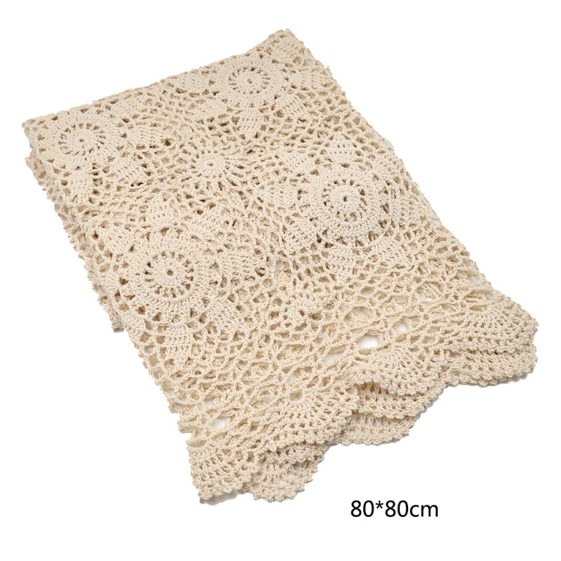 Vintage Handmade Crochet Lace Square Table Cloth Table Cover Home Dinner Decoration(China (Mainland))