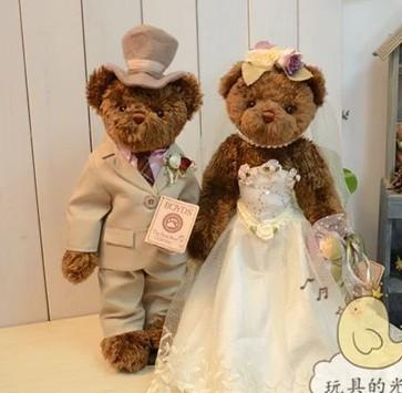 Five joint wedding teddy bear doll 40cm (15.75 ) to send soft baby toy plush toy gift bracket LH109<br><br>Aliexpress