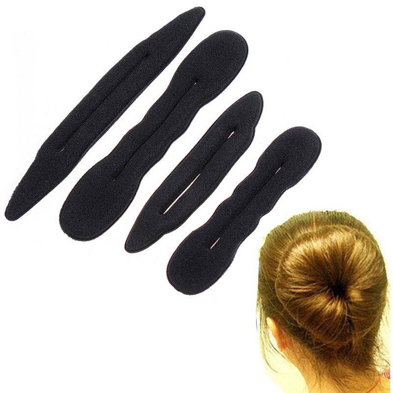 4Pcs Magic Sponge hair band Elastic Hair Styling Bun Maker Twist Curler Tool Hair Styling Tools(China (Mainland))