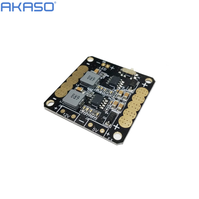 AKASO CC3D Flight Controller Power Distribution Board with 5V/12V BEC Output LED Switch for FPV RC 250 Across Quadcopter