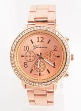 Buy Fashion Geneva Brand Crystal Wrist Watch Stainless Steel dress Quartz Watch Women Men Ladies D1201 for $6.99 in AliExpress store