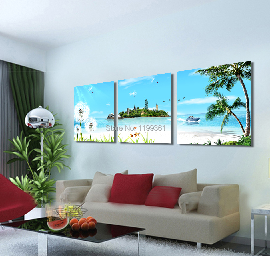Free Shipping Modern Wall Painting New York London Paris