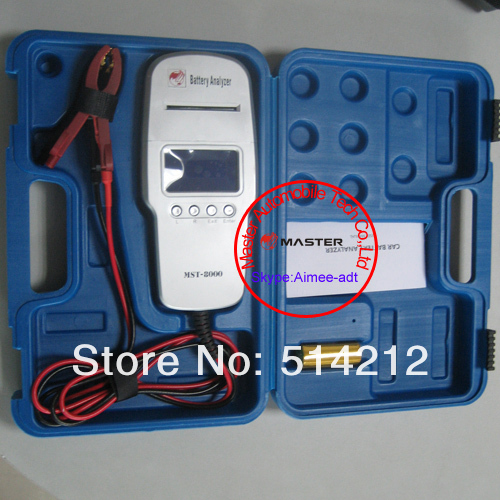 Wholesale MST-8000 Digital Car Battery Tester With Printer 12V Battery Load Tester new arrival 12pcs a lot(China (Mainland))