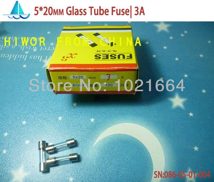 (100pcs/lot)(Fuses|5*20MM) Fast Quick Blow Glass Tube Fuse, 5x20mm  250V 3A  F3AL250V<br><br>Aliexpress