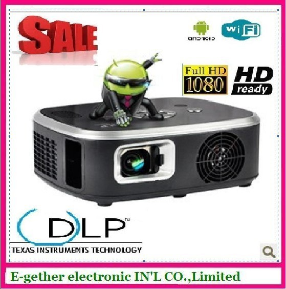 2013 hot sale DLP mov398 mini projector with Andriod and wifi, FULL hd 1080 projector 2500 contrast ,home multimedia player