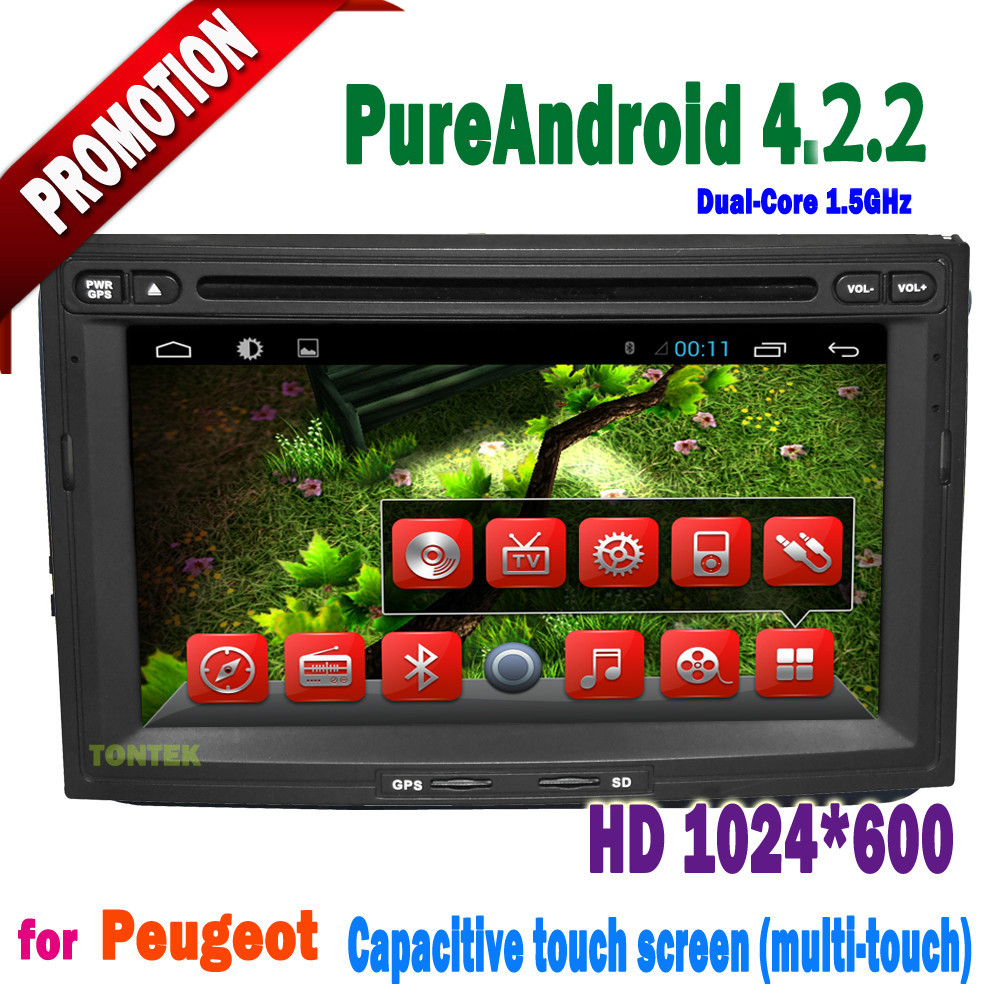 7 inch Android 4.2.2 GPS IPOD BT ATV Radio AUX car DVD for Peugeot 3008 5008(China (Mainland))