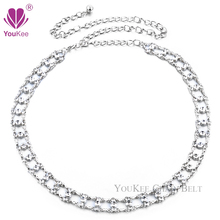 Luxury Double Cubic Zirconia Chain Belt Wedding Dress Metal Belt Cinturones Belts For Women Accessories (BL-284) YouKee Belt