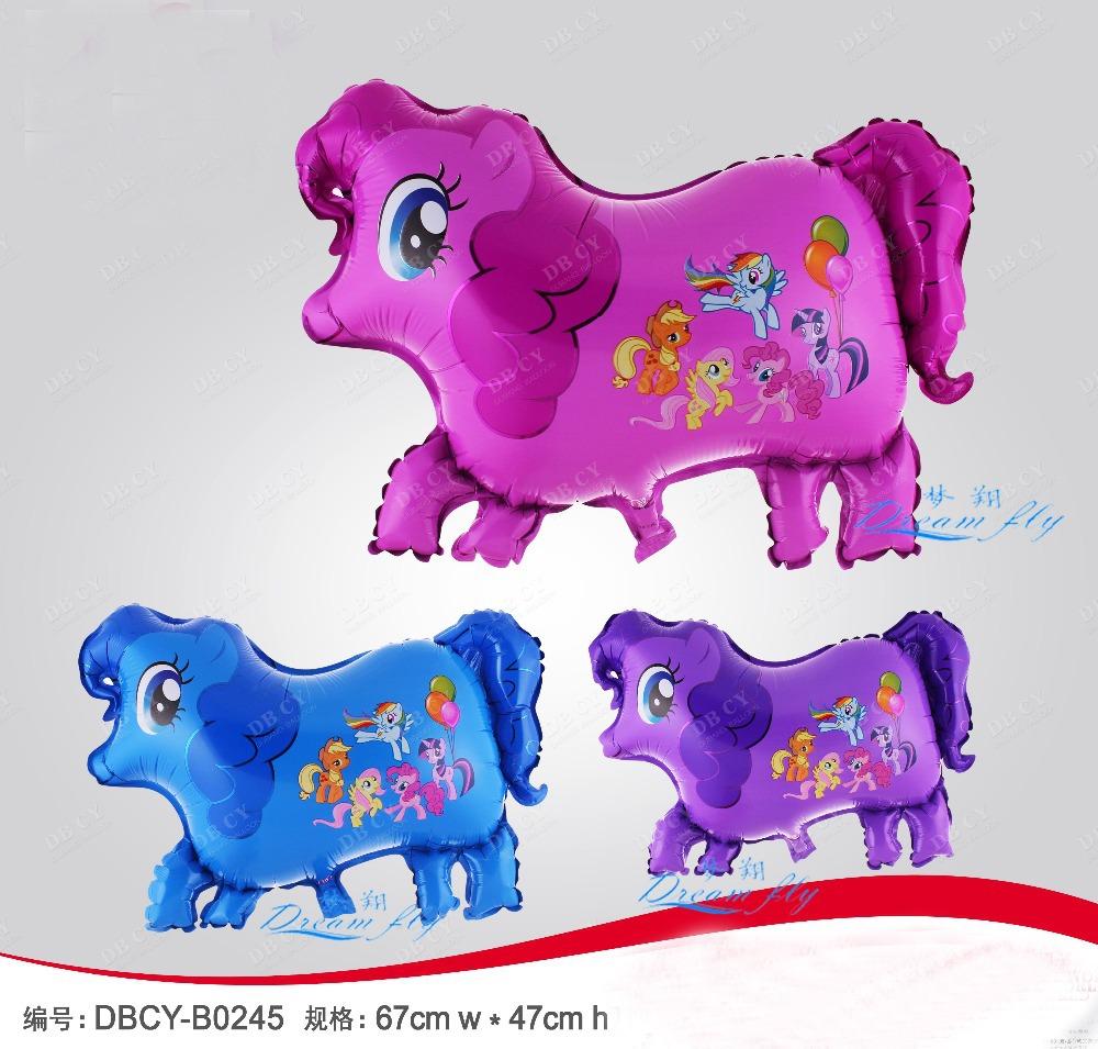 free shipping 50pcs/lot little horse cartoon helium balloon children toy balloon party decoration balloon(China (Mainland))