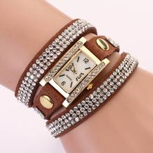 77 Fashion 2015 New 11 Colors Luxury Leather Casual Gold Wristwatch Watch Women Dress Watches Wrist