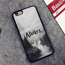 Harry Potter Always Printed Soft TPU Skin Mobile Phone Cases OEM For iPhone 6 6S Plus 7 7 Plus 5 5S 5C SE 4 4S Back Cover Shell(China (Mainland))