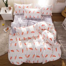 Solstice Home Textile Fashion Pastoral Style 4 Pcs Bedding Set Bed Sheet+duvet Cover+pillowcase Cloud Bed Cover Bedlinens 5 Size(China)