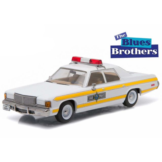 GreenLight 1:43 1977 Dodge Royal Monaco Illinois State Police - The Blues Brothers (1980) - Hollywood Series(China (Mainland))