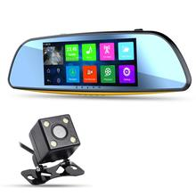 6.68 inch Android 4.4 Quad-Core Car Video Recorder Rearview Mirror Monitor 1080P GPS Bluetooth WIFI Backup Camera Touch Screen(China (Mainland))