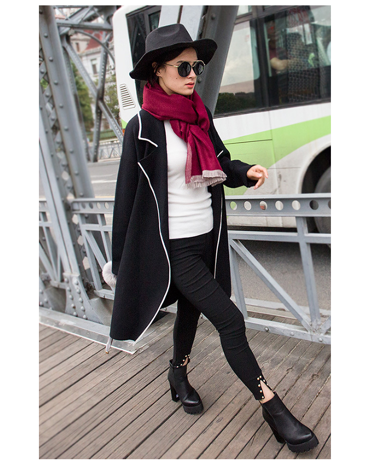 Two – color long section of wild fashion scarf Korean cashmere double – sided winter shawl air – conditioning warm