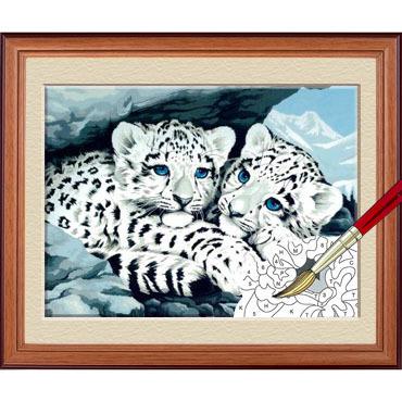 Diy digital oil painting hand painting oil painting xuebao baby 30 80