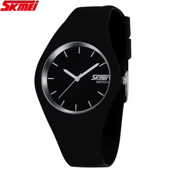 High Quality Brand SKMEI New Fashion Casual Silicone Watches With Japan Quartz Unisex WristWatches For Men Women Gift 9068