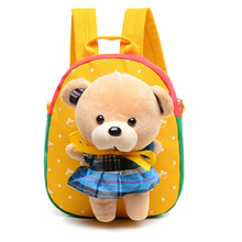 2016 Hot Christmas special gift Children school bags cute cartoon bear infant backpacks for baby girl kids bags Free Shipping(China (Mainland))