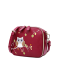Cute Cartoon PU Bag Women Sweet Style Embroidery Splicing Mini Bag Fashion Casual Simple Ladies Lovely