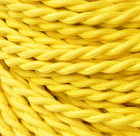 10 Meters/Lot Yellow color  vintage style 2 x 0.75mm2 Twisted Cable Twisted Electrical Wire Braided Color Cords Use in lighting<br><br>Aliexpress