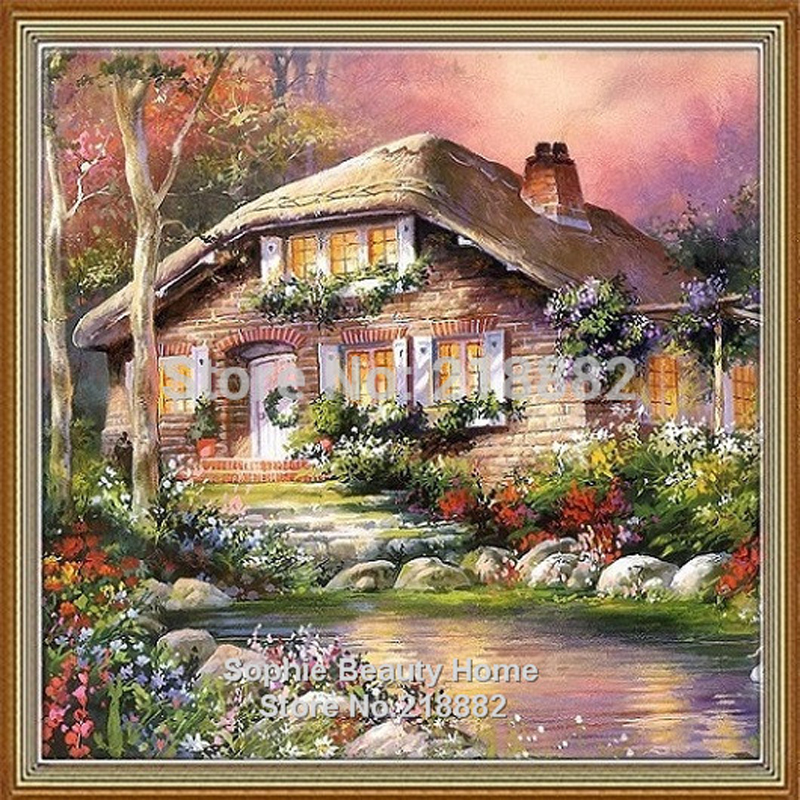 2015 New 100% Full Area Highlight Diamond Needlework Diy Diamond Painting Kit 3D Diamond Cross Stitch Plants Embroidery 25x25cm(China (Mainland))