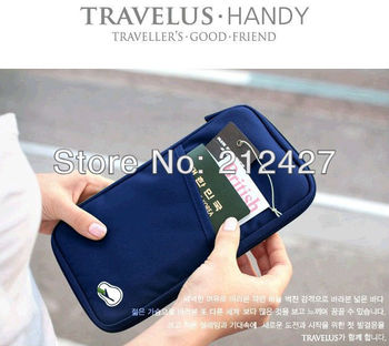 Free Shipping 1pcs/lot Discount Storage bag travel day clutch card holder wallet coin purse arrange document bill bag
