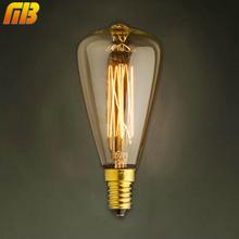 Vintage Edison Bulbs E14 220V ST48 Incandescent Bulbs 25W 40W 60W Filament Retro Edison Light For Pendant Lamp(China (Mainland))