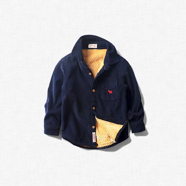 Детские Блузки 2016 новых детских вельветовые рубашки мальчик пальто осень и зима дети рубашки мальчиков фланелевые рубашки 20023
