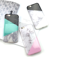 Artistic Color block Marble Fashion Phone Cases For iPhone 6 6s Plus 7 7 Plus Silicone Innovative Phone Cover [Discount Price](China (Mainland))