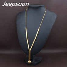 Buy 3 Colors Fashion Stainless Steel Jewelry Woman Long Chain Necklace High Jeepsoon NEIFAJCG for $4.50 in AliExpress store