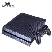 Black Carbon Fiber Skin Sticker for Sony PS4 PlayStation 4 & 2 Controller skins Carbon Fiber 3D Texture(China (Mainland))