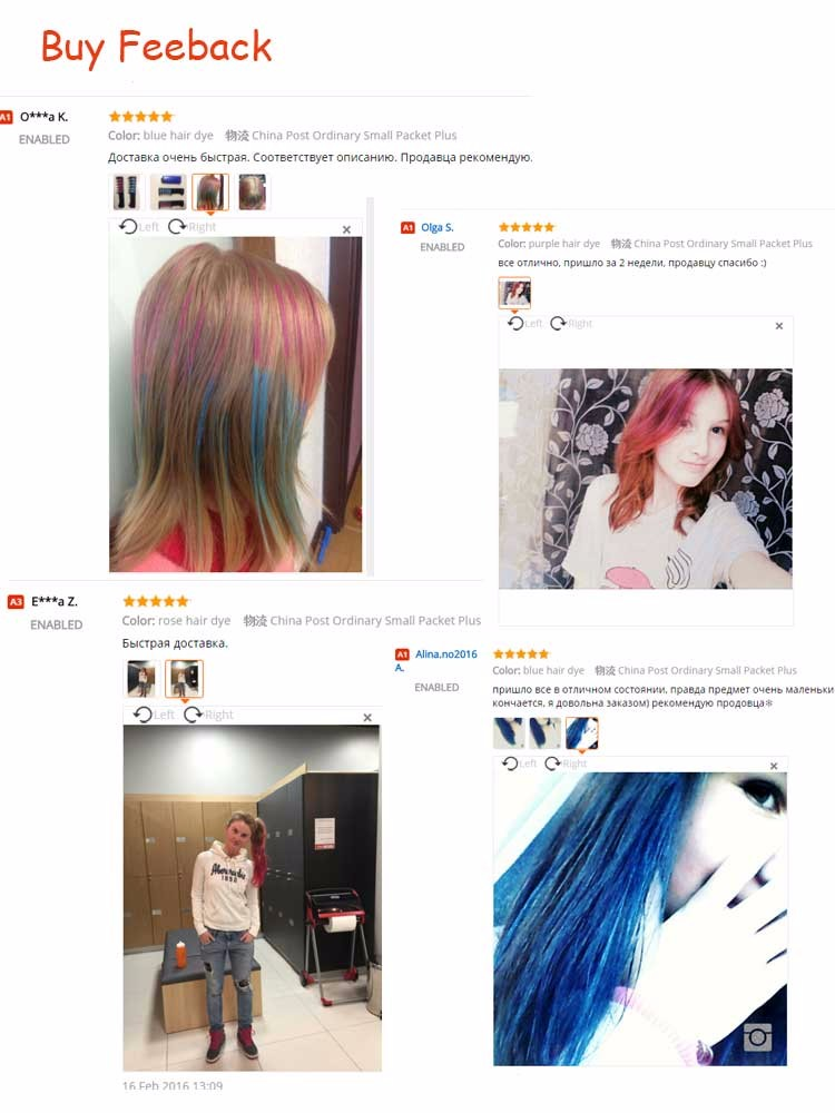 Hair Mascara  2016 New Design Crayons for  Hair Color Chalk for the Hair Color Temporary Blue Hair Dye With Comb