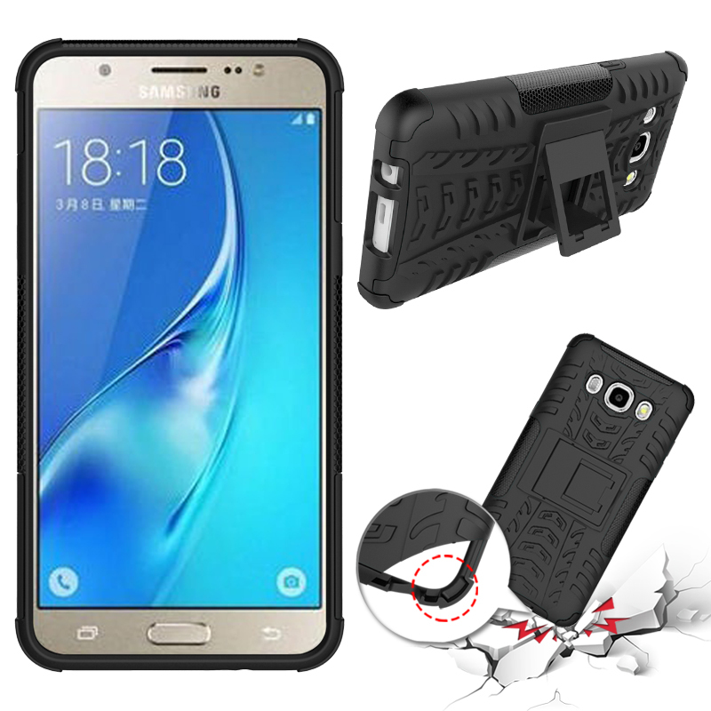 For Samsung Galaxy J5 (2016) / J510 / J5100 Cover Dual Layer Armor Silicone Hard Plastic Skin Holder Stand Case(China (Mainland))