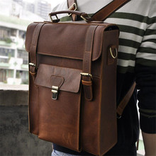 Buy Steelsir 2017 Hot Sale Crazy Horse leather Genuine Leather Imported Retro Men Large Capacity 14 Inch Backpack Laptop Bags for $91.20 in AliExpress store