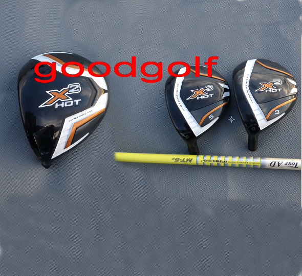 Hot golf Wood set X2 HOT 10.5 degree golf driver with X2 HOT 3#5# fairway woods with Graphite shafts high quality golf clubs(China (Mainland))