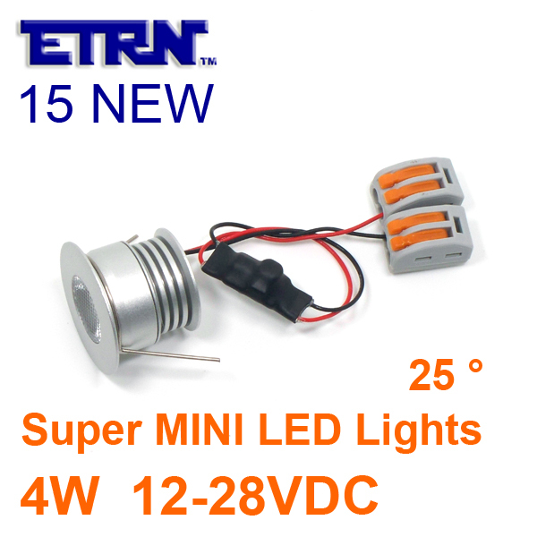 ETRN Brand 2015 NEW Super MINI 4W LED Downlights DC 12V 24V Sharp COB LED Cabinet Light Recessed lights 6piece/lot Free Shipping(China (Mainland))