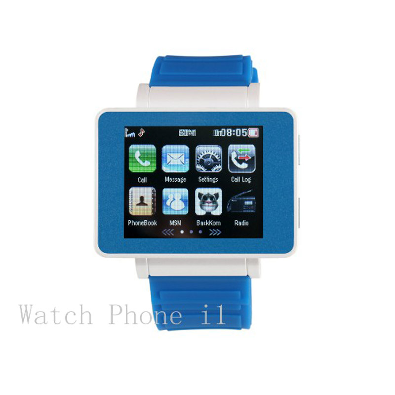 For Children's I Bluetooth Smart Watch Quad band Unlock Mobile Phone 1.8'' Touch Screen Support FM Radio MSN Skype GPRS internet(China (Mainland))