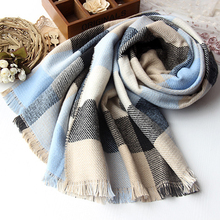 190 x 80 cm Cashmere Lady Scarf Women Plaid Stole Warm Tartan Winter Scarves Brand New