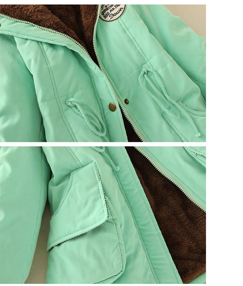 Скидки на Осень Теплая Зима Куртка Женщин Мода женщин Меховой Воротник Пальто куртки для Леди Длинные Slim Down Parka Толстовки Плюс Размер парки