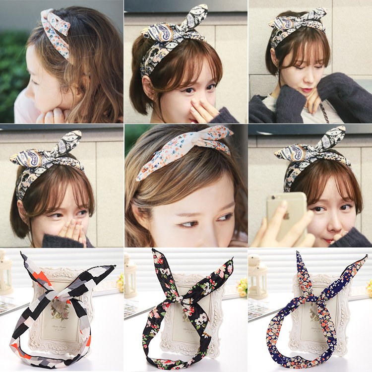 Novelty Fashional Various Colorful Floral Print Hairbands Headbands for Women Hair Accessories Headwear for Girls(China (Mainland))