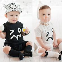 Summer 2016 Infant Newborn Short Sleeve Romper Baby boy clothes, Bebes  Simple Cotton Cartoon Onesie jumpsuit Baby costume