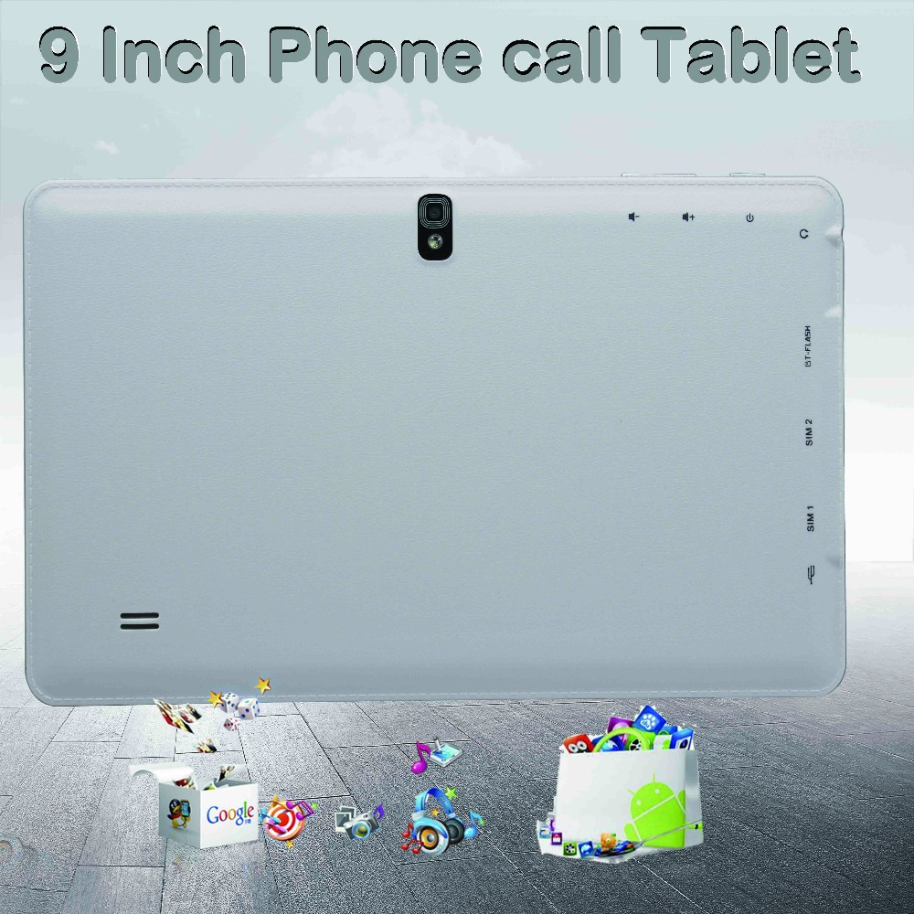 Promotion 9 inch Phone Call Tablet 2SIM Card 2 Camera Dual Core Bluetooth 2G Phone call