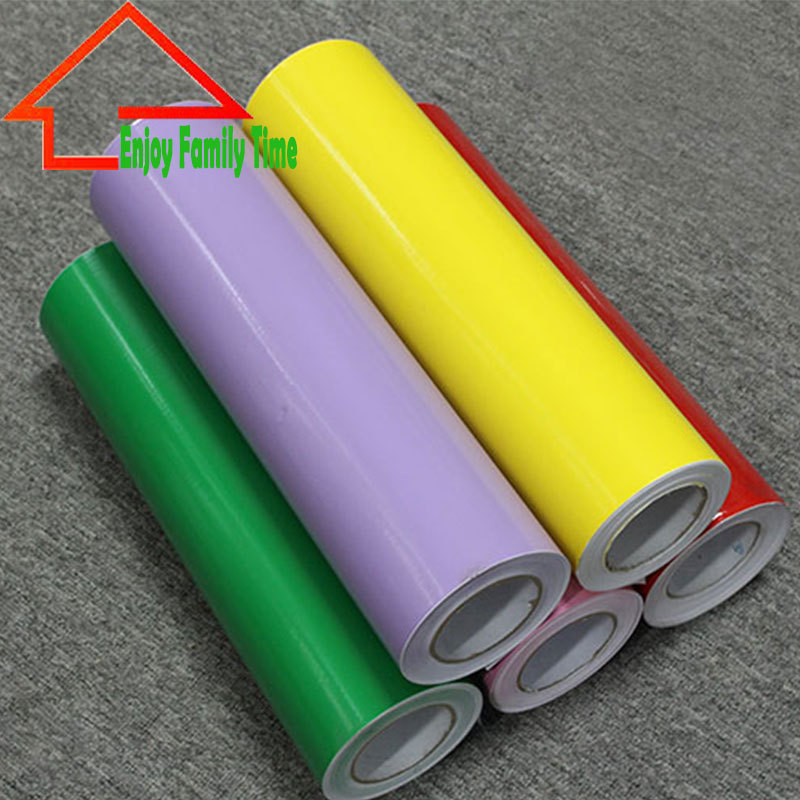 2015 Plotter Cutting Self Adhesive Vinyl Film Rolls Solid Color Decorative Vinyl Wallpaper Glass Self Adhesive Film 60CM*8M(China (Mainland))