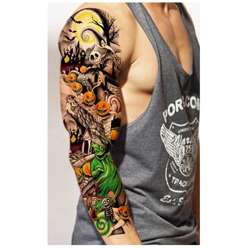 3pcs Waterproof Temporary Tattoos Stickers For Body Art Flash Tattoo Sleeve Sexy Product Fake Metallic Tattoos Transfer Stickers(China (Mainland))