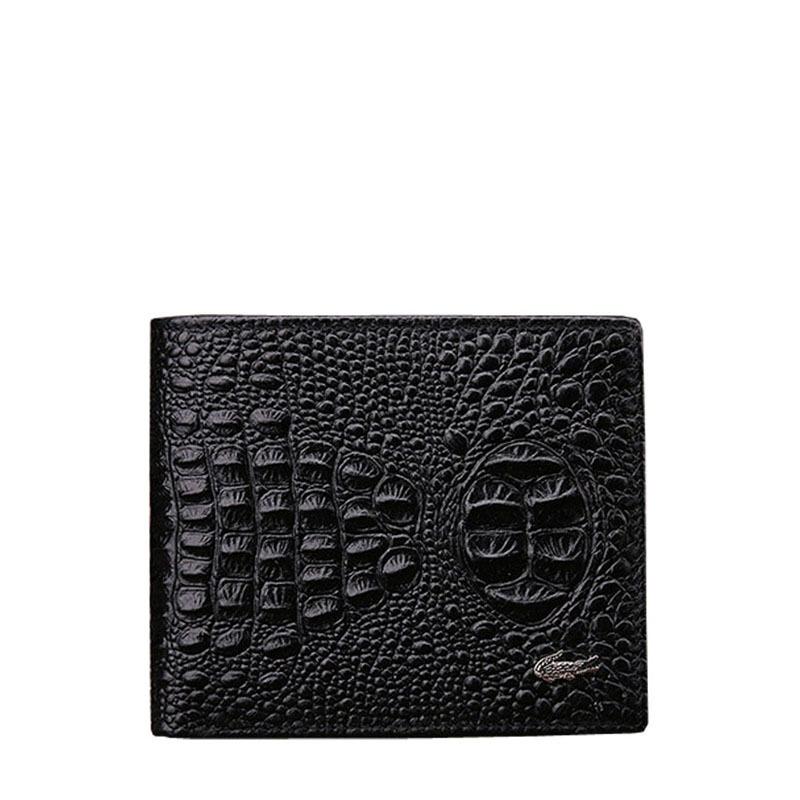 2015 Vintage Crocodile Billetera Hombre Short Mens Wallet Leather Genuine Cowhide Design Monederos Carteras Hombre(China (Mainland))
