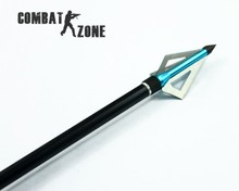 12 Pcs lot Brand New Hunting Slingshot Arrowhead Aluminum Tips Steel Blades Blue Arrow Head for