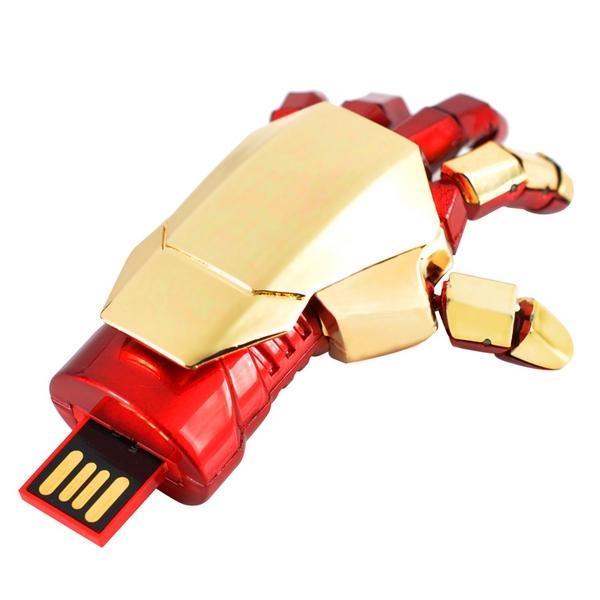 Avengers Iron Man Hand Cle USB Flash Drive 64GB 128GB 256GB 512 GB 1TB 2TB Pen Drive 32GB Pendrive 16GB Memory Stick 2.0 Gift(China (Mainland))