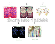 2014 New arrival 2pcs/lots Dream Catcher PU leather card foldable case cover for iphone 4 4s 4gs+free shipping(China (Mainland))